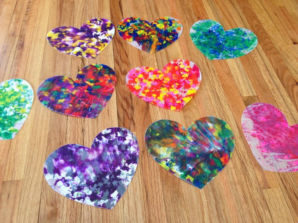 Stained Glass Heart Garland & Love Notes